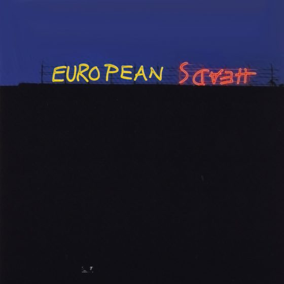 Ian Hamilton Finlay European Heads 1992, close-up