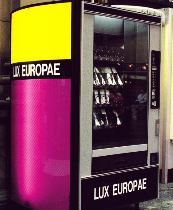Louise Scullion Vending Machines for Lux Europae 1992